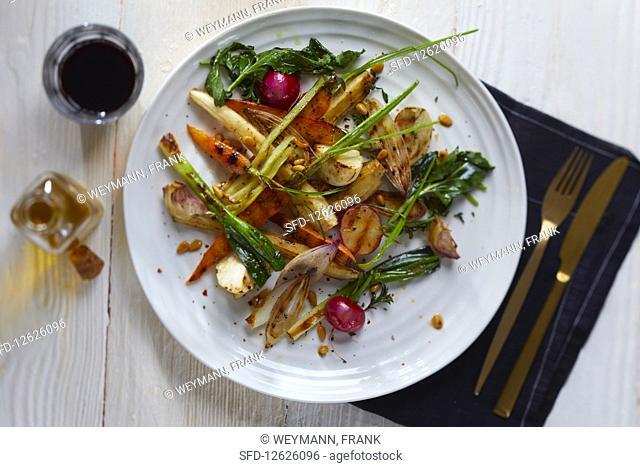 Grilled root vegetables (France)