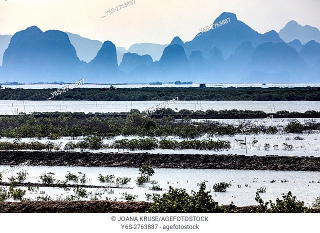 pearl farm at Halong Bay, Vietnam, Indochina, Asia
