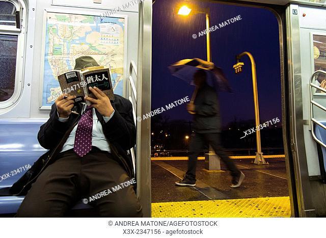Subway line. Manhattan. New York city. USA