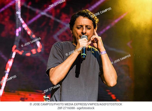 Ska and reggae band La Milixia, from Costa Rica, during their show at Coca Cola Fest concert. Estadio Nacional, San José, Costa Rica