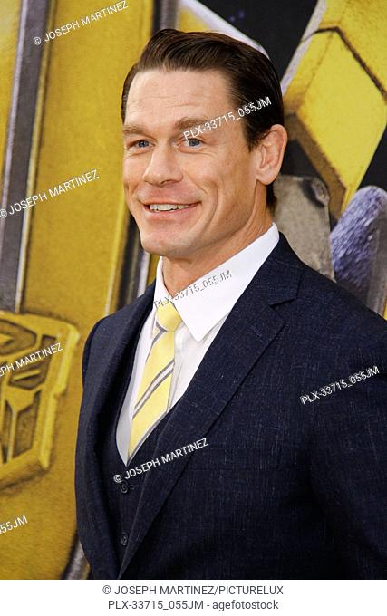 """John Cena at the Premiere of Paramount Pictures' """"""""Bumblebee"""""""" held at the TCL Chinese Theatre in Hollywood, CA, December 9, 2018"""