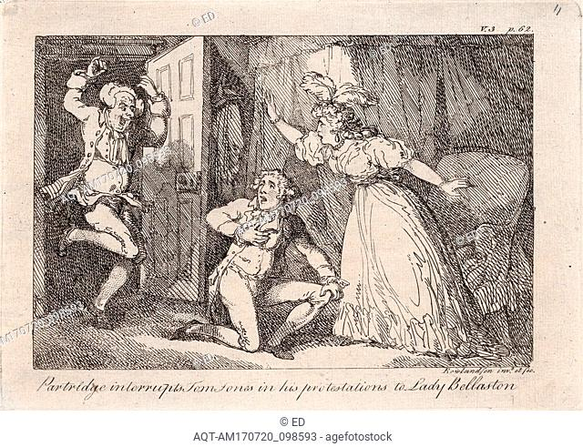 Drawings and Prints, Print, Partridge Interrupts Tom Jones in his Protestations to Lady Bellaston, from The History of Tom Jones, a Foundling by Henry Fielding
