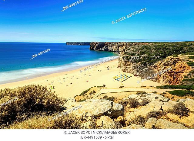 Beliche Beach next to Sagres, Saint Vincent Cape, Algarve, Portugal