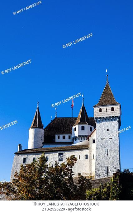 Chateau of Nyon on the shore of Lake Geneva, Switzerland