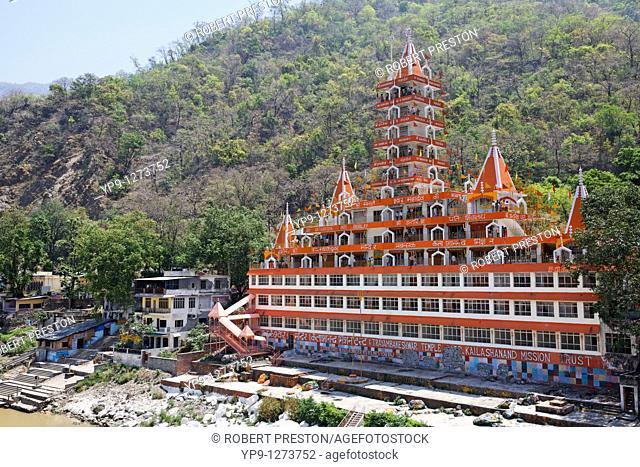 The Hindu Sri Trayambakeswar Temple, Rishikesh, Uttaranchal, India