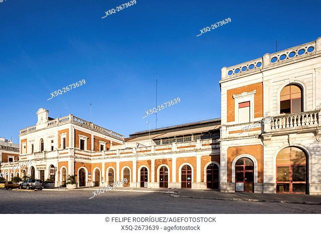 Former San Bernardo railroad station (or Estacion de Cadiz), nowadays Puerta de la Carne marketplace, Seville, Spain