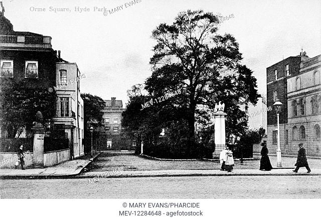 Orme Square, Bayswater, West London, on the north-west corner of Hyde Park