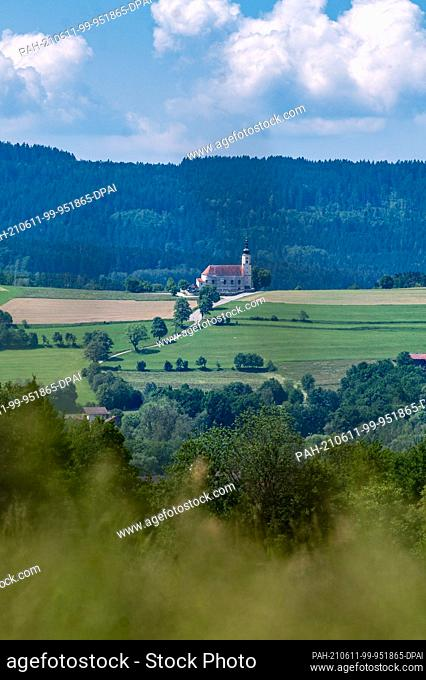 11 June 2021, Bavaria, Bad Kötzting: The pilgrimage church of the Assumption of the Virgin Mary in the Weißenregen district. Photo: Armin Weigel/dpa