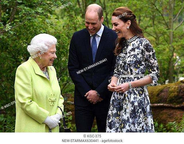 Photo by: KGC-375/starmaxinc.com.STAR MAX.©2019.ALL RIGHTS RESERVED..5/20/19.Queen Elizabeth II, Prince William, The Duke of Cambridge and Catherine