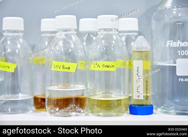 Enzyme production, Chemical lab, Biotechnological and industrial applications, Donostia, San Sebastian, Basque Country, Spain