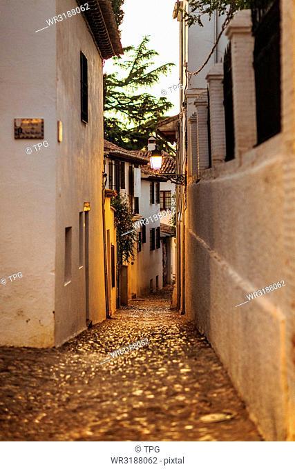 Alley of the Granada street Spain