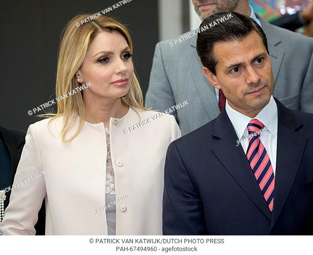 Crown Prince Frederik and Crown Princess Mary of Denmark and President Enrique Pena Nieto and his wife Angelica Rivera of Mexico visit an LEGO project at the...