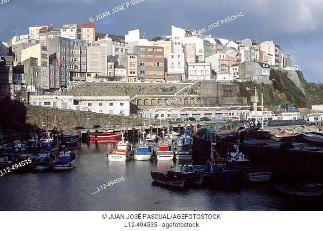 Malpica, Costa da Morte. La Coruña province, Galicia, Spain