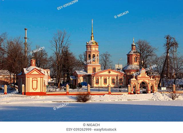 Temple of the Exaltation of the Holy Cross in Altufyevo. Moscow, 1763