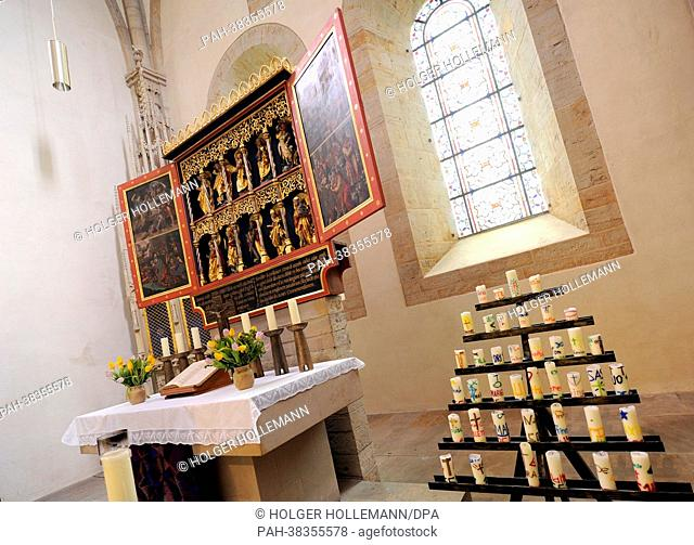 View of the sanctuary of the monastery church in Loccum, Germany, 27 February 2013. On 21 March, the monastery celebrated its 850th anniversary