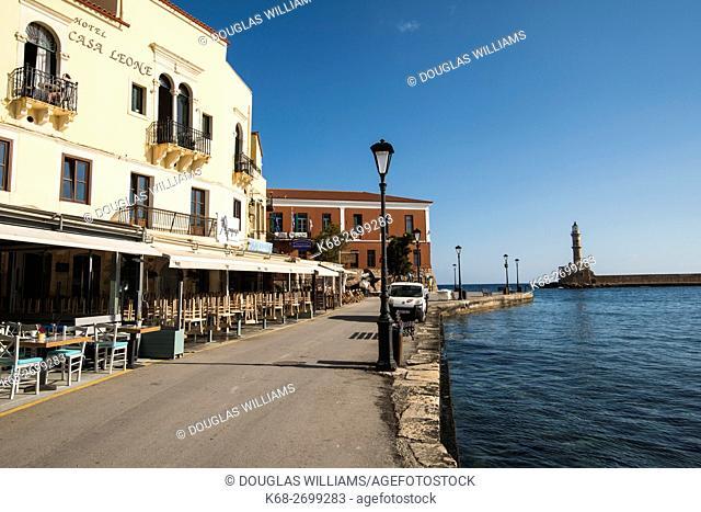 The Venetian Harbour in Chania, Crete, Greece