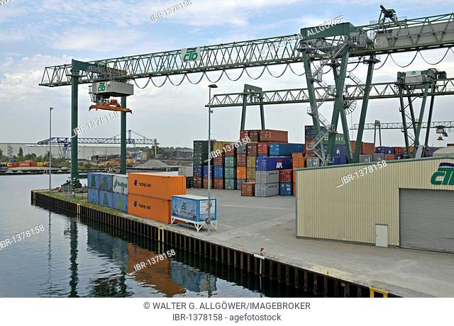 Dortmund city port, North Rhine-Westphalia, Germany, Europe