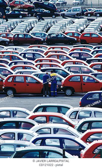 Automobiles at Port of Pasajes. Guipuzcoa. Spain