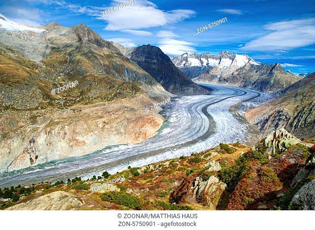 Great Aletsch Glacier, Valais, Switzerland