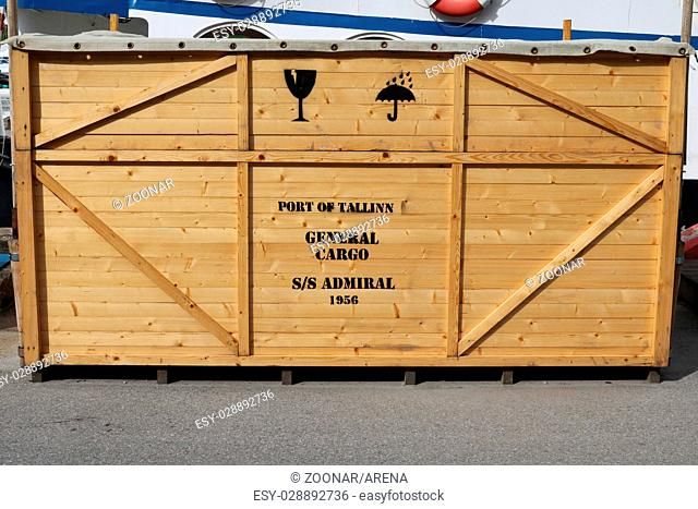 Estonia, Tallinn, transport crate at harbour