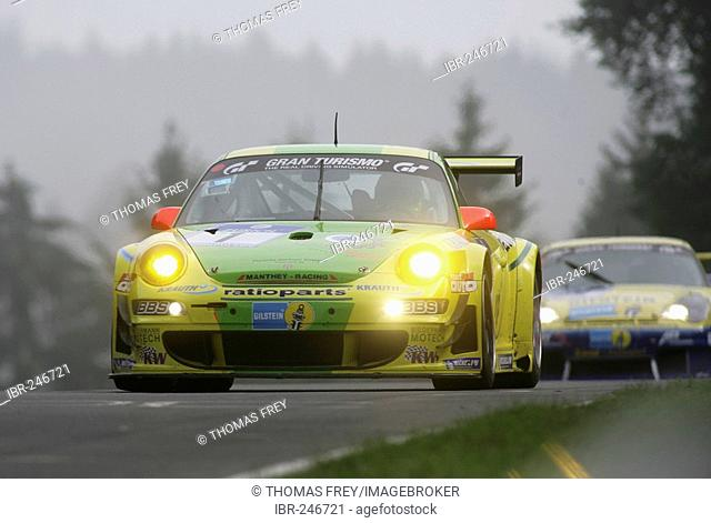 Day-long car racing at the Nuerburgring, Adenau, Rhineland-Palatinate Germany