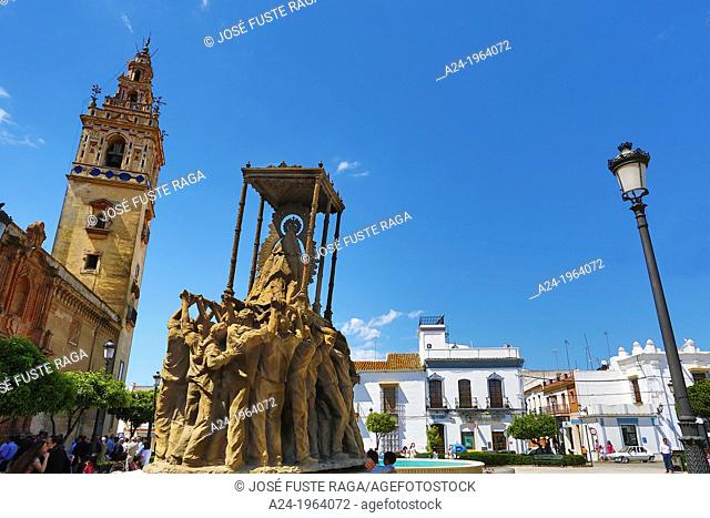 Spain , Andalucia Region,Huelva Province , Moger City , Main Square
