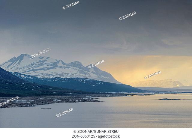 Lake Akkajaure with Mt. Akka, Lapland, Sweden