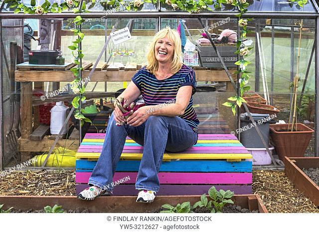 Image of PEGGY ANNE CAMPBELL, Plot 78, Eglinton Growers, Kilwinning, Eglinton Growers Allotments, Kilwinning, Ayrshire, Scotland, UK