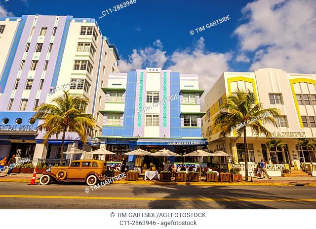 casablanca hotel,south beach; miami; florida; usa; america;