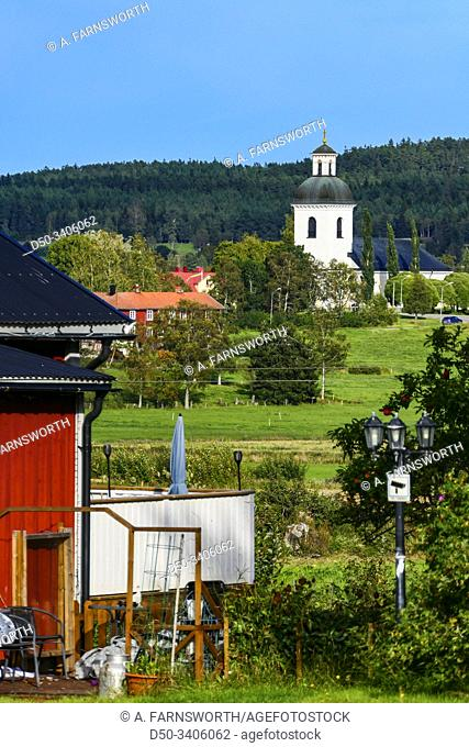 Dvasta, Sweden A backyard and church along the E-4 highway