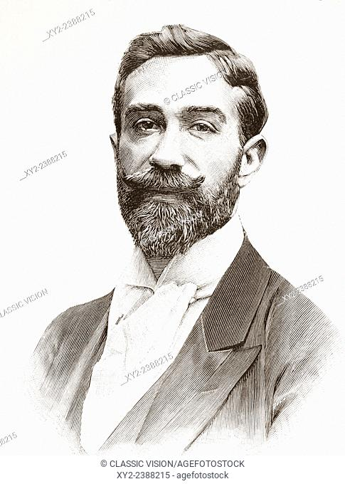 Agustín Querol Subirats, 1860-1909. Spanish sculptor. From La Ilustracion Española y Americana, published 1892