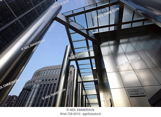 Offices at Canary Wharf, Docklands, London, England, United Kingdom, Europe