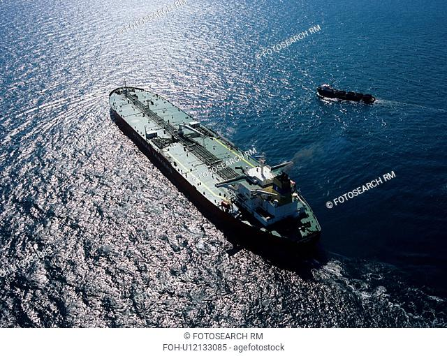 Oil Tanker and Supply Boat