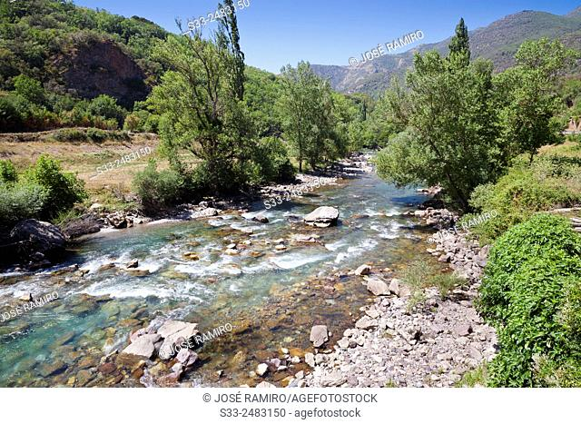 Noguera Pallaresa river in Baro. Lérida. Cataluña. Spain. Europe