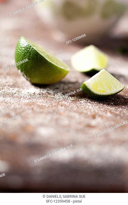 Limes, quartered