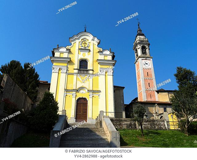 The town of Arona is on the southern shores of Lake Maggiore, one of the popular Lombardy Lakes, Its main economic activity is tourism