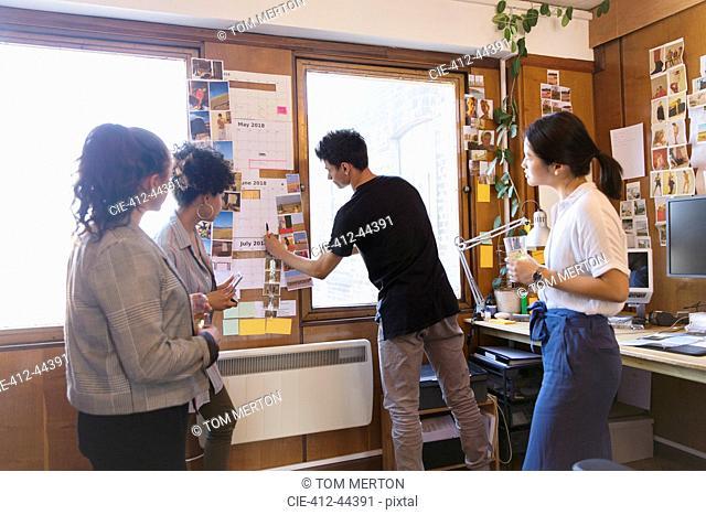 Creative designers brainstorming in office