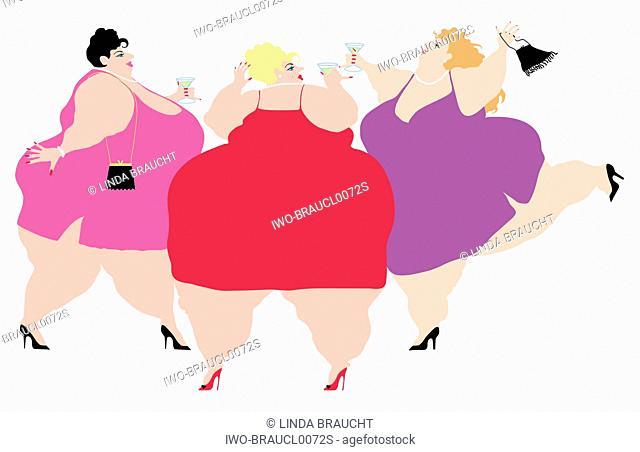 Three Large Women