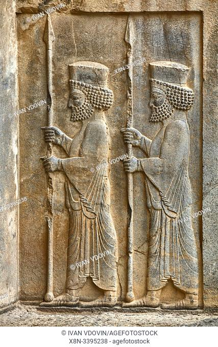 Artaxerxes III tomb, Persepolis, ceremonial capital of Achaemenid Empire, Fars Province, Iran