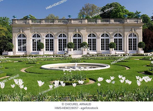 France, Paris, bois de Boulogne, the orangery of Bagatelle park