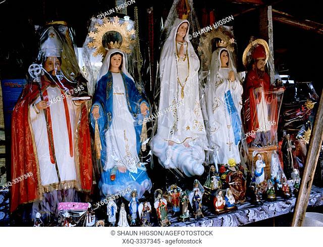 Christian memorabilia in Manila in Luzon Metro Manila in the Philippines in Southeast Asia Far East