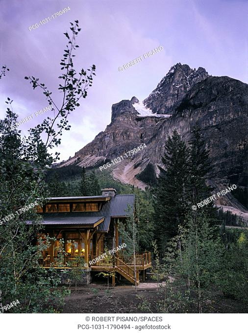Mountain Home At Dusk