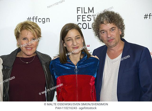 """from left: Mariele MILLOWITSCH, actress, Marie LEUENBERGER, actress, xxxx Film premiere """"""""Marie Brand and the play with happiness"""""""" at the Film Festival Cologne..."""