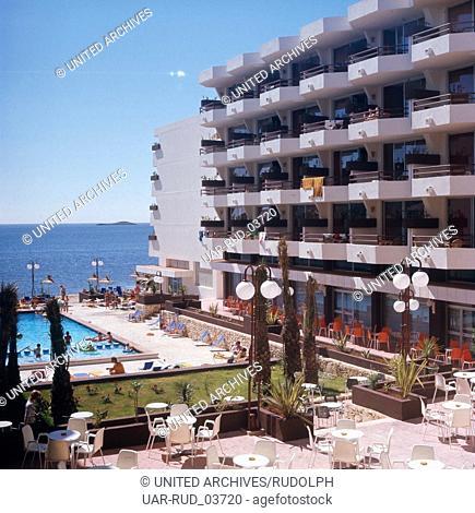 Sommerurlaub in den Lido Apartments, Ibiza 1976. Summer vacation in the Lido Apartments, Ibiza 1976