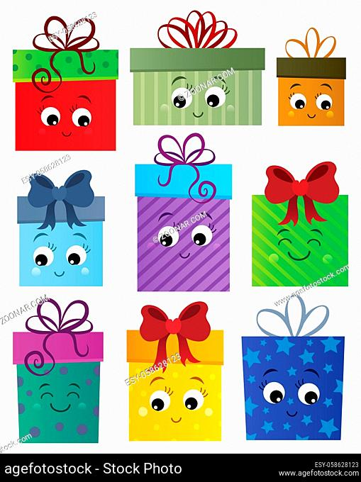 Stylized gifts theme set 1 - picture illustration