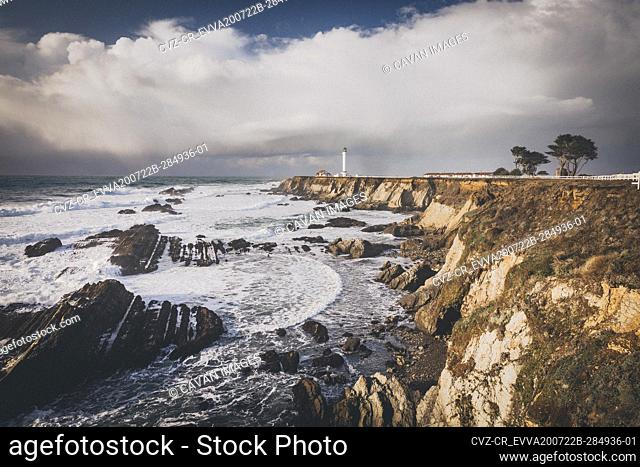 Lighthouse on the pacific coast, Point Arena, California