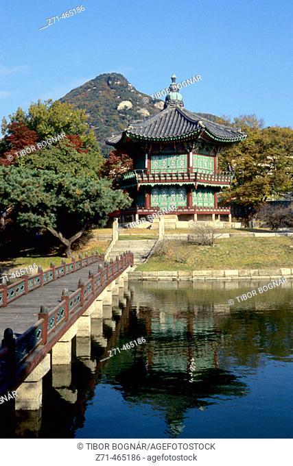 Gyeongbokgung Palace, pavilion. Seoul. South Korea