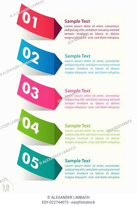 Five Colorful Stickers Infographic