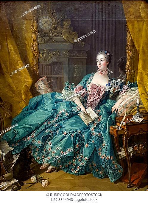 'Madame de Pompadour', 1756, François Boucher (1703-1770)