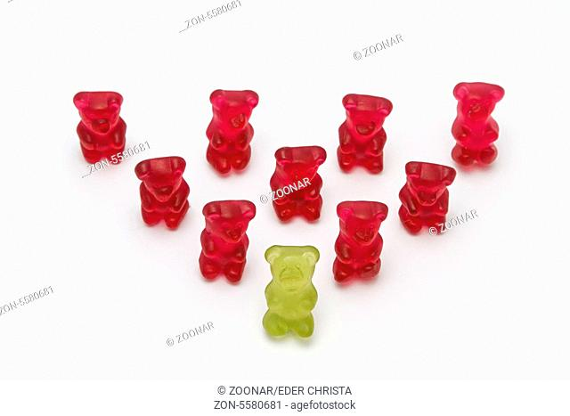Symbolic picture with gummy bears - Chef at the to